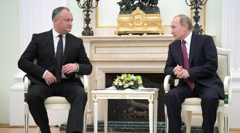 Igor Dodon et Vladimir Poutine, populisme, eurosceptisime, Bulgarie, Moldavie