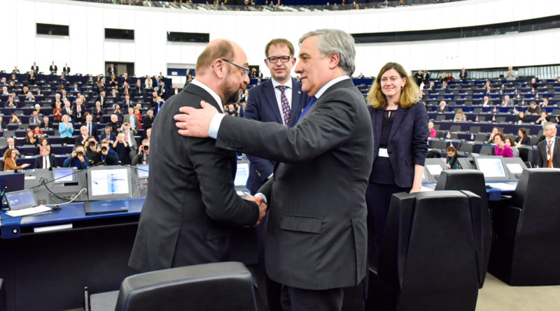 Antonio Tajani, Martin Schulz, parlement européen