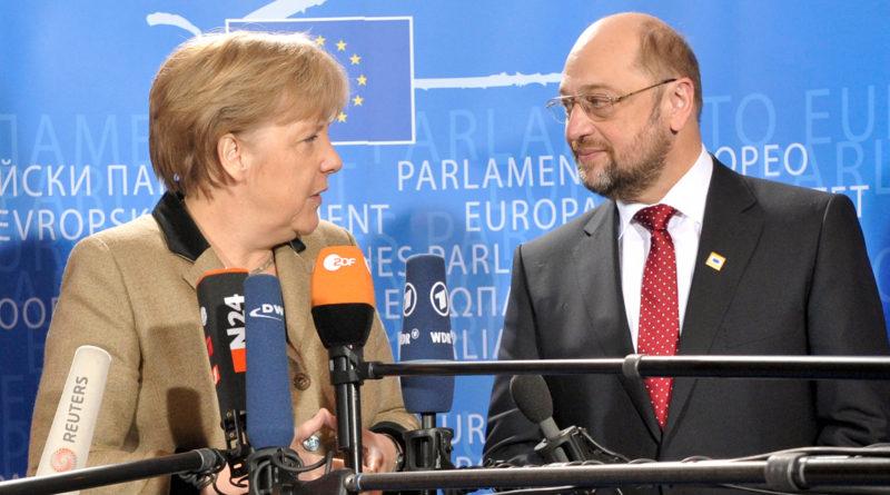 Angela Merkel, Martin Schulz, Elena Blum