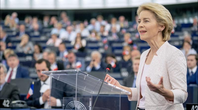 Ursula Von der Leyen au Parlement européen