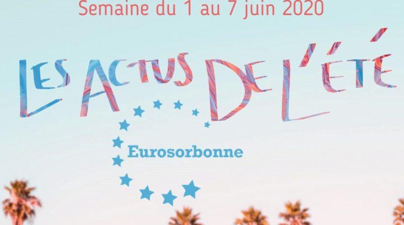 Les actus de l'été – Semaine du 31 mai au 7 juin 2020